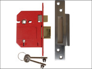 UNION UNNJ2200SC30 - StrongBOLT 2200S BS 5 Lever Mortice Sashlock Satin Chrome 81mm Box