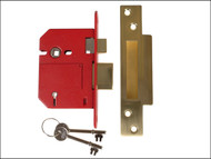 UNION UNNJ2200SP30 - StrongBOLT 2200S BS 5 Lever Mortice Sashlock Satin Brass 81mm Box
