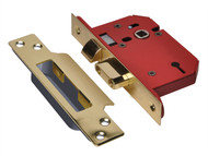UNION UNNY2203PB25 - StrongBOLT 2203S 3 Lever Mortice Sashlock Polished Brass 68mm 2.5in Visi