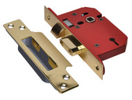 UNION UNNY2203PB30 - StrongBOLT 2203S 3 Lever Mortice Sashlock Polished Brass 81mm 3in Visi