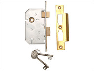 UNION UNNY2277PL25 - 2277 3 Lever Mortice Sashlock Polished Brass 65mm 2.5in Visi