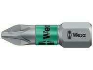 Wera WER056722 - 855/1 BTZ BiTorsion Pozidriv PZ2 Bit Extra Tough 25mm Pack 10