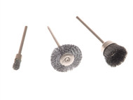 Wolfcraft WFC2114 - 2114 Set (3) Mini Wire Brushes 10-25mm