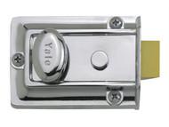 Yale Locks YAL77CH - 77 Traditional Nightlatch 60mm Backset Chrome Finish Box