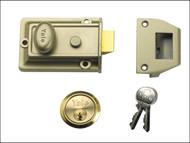Yale Locks YAL77ENBPB - 77 Traditional Nightlatch 60mm Backset Nickel Brass Finish Box