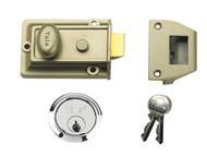 Yale Locks YAL77ENBSC - 77 Traditional Nightlatch 60mm Backset Nickel Brass Finish SC Cylinder Box