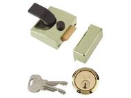 Yale Locks YAL85BLXPL - 85 Deadlocking Nightlatch 40mm Backset Brasslux Finish Box