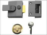 Yale Locks YAL85DMGPB - 85 Deadlocking Nightlatch 40mm Backset DMG Finish Box
