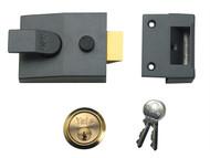 Yale Locks YAL89DMGSC - 89 Deadlock Nightlatch 60mm Backset DMG Finish Satin Chrome Cylinder Box