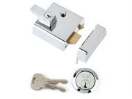 Yale Locks YALP1CHNL - P1 Double Security Nightlatch 60mm Backset Chrome Finish Visi