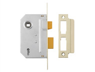 Yale Locks YALPM320PB25 - PM320 3 Lever Mortice Sashlock Polished Brass 65mm 2.5in