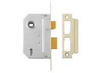 Yale Locks YALPM320PB30 - PM320 3 Lever Mortice Sashlock Polished Brass 79mm 3in