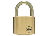 Yale Locks YALY11050SS - Y110 50mm Brass Padlock / Stainless Shackle