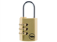 Yale Locks YALY15030 - Y150 30mm Brass Combination Padlock