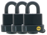 Yale Locks YALY220513PK - Y220 51mm Weatherproof Padlock (3 Pack)