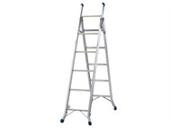 Zarges ZAR100830 - Combination Ladder 3-Way 1 x 5 and 1 x 6 Rungs