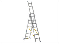 Zarges ZAR40227 - Skymaster Trade Combination Ladder 3-Part 3 x 6 Rungs