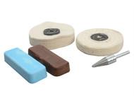 Zenith Profin ZENPFPK5 - Polishing Kit - Non Ferrous Metal - Brown & Blue