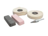 Zenith Profin ZENPFPK5A - Polishing Kit Ferrous Metal - Grey & Pink