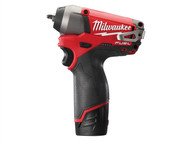 Milwaukee MILM12IW142F - M12 CIW14-202C FUEL Compact 1/4in Impact Wrench 12 Volt 2 x 2.0Ah Li-Ion