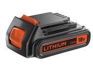 Black & Decker B/DBL1518 - BL1518 Slide Battery Pack 18 Volt 1.5Ah Li-Ion