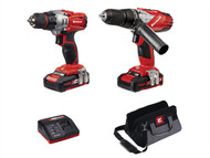 Einhell EINTECD18TD - Power-X-Change Combi & Drill Driver Twin Pack 18 Volt 2 x 1.5Ah Li-Ion