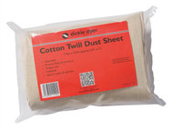 Dickie Dyer DDY11102 - Dust Sheet Medium Cotton Twill 24 x 3ft