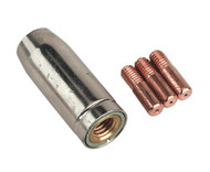 Sealey MIG953 Conical Nozzle x 1 Contact Tip 0.6mm x 3 TB14