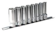 """Sealey AK2831 Socket Set 8pc 3/8""""Sq Drive 6pt Deep WallDriveå¬ Imperial"""