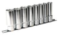 """Sealey AK2861 Socket Set 8pc 1/2""""Sq Drive 6pt Deep WallDriveå¬ Imperial"""
