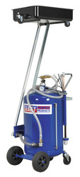 Sealey AK462DX Mobile Oil Drainer with Probes 100ltr Cantilever Air Discharge