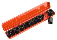 """Sealey AK682 Impact Socket Set 12pc 3/8""""Sq Drive Metric/Imperial"""