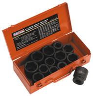 """Sealey AK686 Impact Socket Set 13pc 3/4""""Sq Drive Metric/Imperial"""