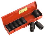 """Sealey AK80/9M Impact Socket Set 8pc 3/4""""Sq Drive Deep Metric"""