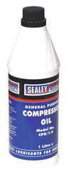 Sealey CPO1S Compressor Oil 1ltr