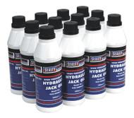 Sealey HJO/500ML Hydraulic Jack Oil 500ml Pack of 12