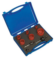 Sealey HKP9 Hole-Saw Kit Plumber's 9pc