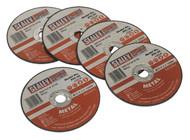 Sealey PTC/3C5 Cutting Disc åø75 x 2mm 10mm Bore Pack of 5