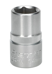"Sealey S1214 WallDriveå¬ Socket 14mm 1/2""Sq Drive"