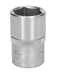 "Sealey S1218 WallDriveå¬ Socket 18mm 1/2""Sq Drive"