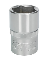 "Sealey S1219 WallDriveå¬ Socket 19mm 1/2""Sq Drive"