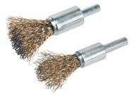 Sealey VS1801 Decarbonising Brush Set 2pc