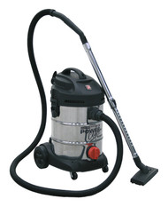 Sealey PC300SD Vacuum Cleaner Industrial 30ltr 1400W/230V Stainless Drum
