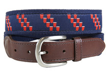 Red Cup Rep Stripe Belt (Leather Tab)