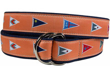 Burgees Ladies Ribbon Belt in Melon
