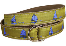 One Design Ladies Ribbon Belt in Seaweed