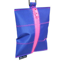 Dog Waste Bag Dispenser in Sailcloth Nautical with Pink
