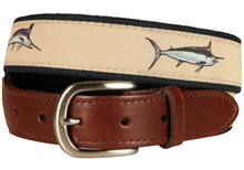 Billfish Belt (Leather Tab)