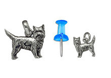 Sterling Silver Cairn Terrier Charm - Mini