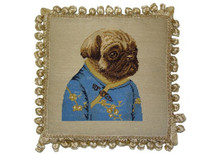Pug With Bow Needlepoint Pillow A Amp L Home